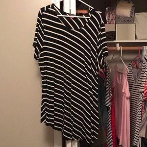 Vince Camino black and white stripe top